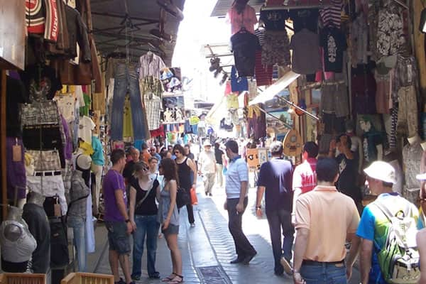 Travellers can wander and explore the marketplaces in Athens