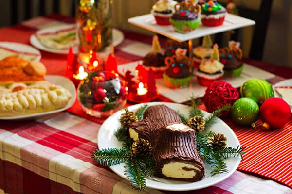 Try a Buche de Noel when you cruise to Morocco