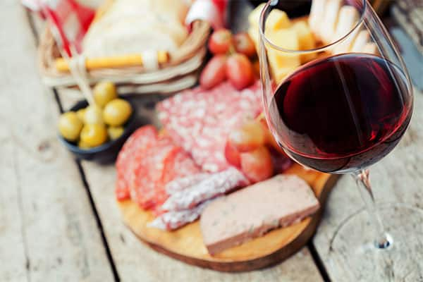 Fine wine and meats on a Europe cruise
