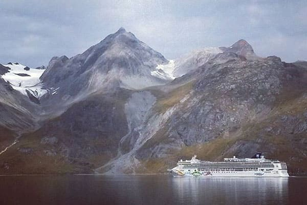 Picturesque views on an Alaskan cruise