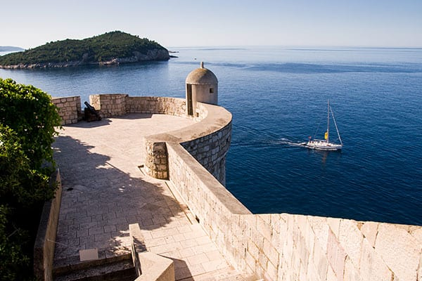 Muraille ayant servi de décor à Game of Thrones à Dubrovnik en Croatie