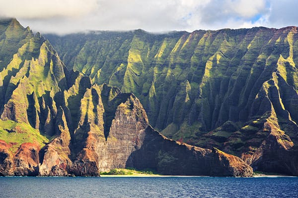 Na Pali Coast from Jurassic Park in Kauai