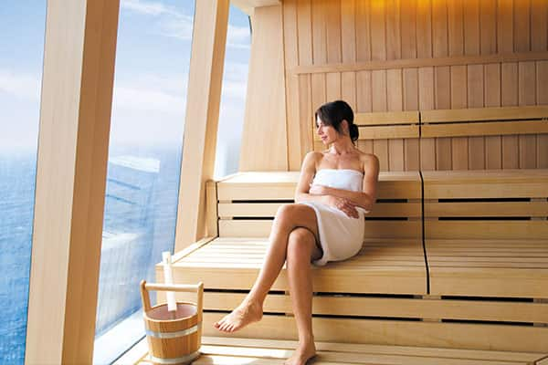 Sauna in the Mandara Spa