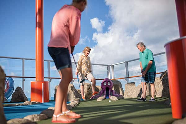 Challenge your friends to a game of mini-golf
