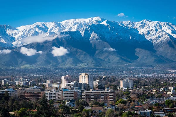 Andes Mountain in Santiago Chile