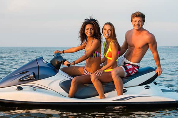 Friends on a Jet Ski