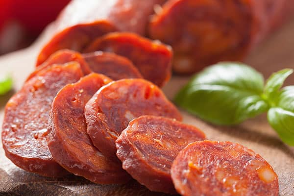 Chorizo en The Cellars