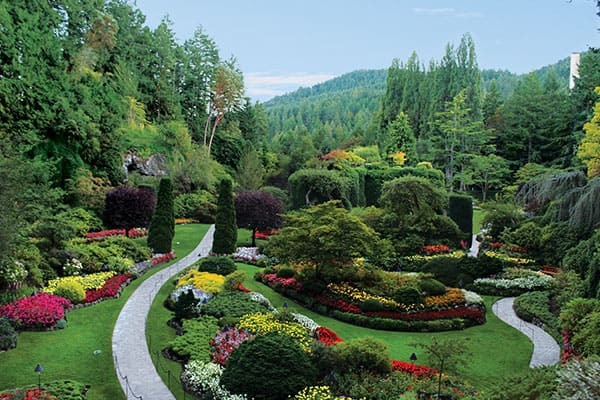Tour durch Butchart Gardens