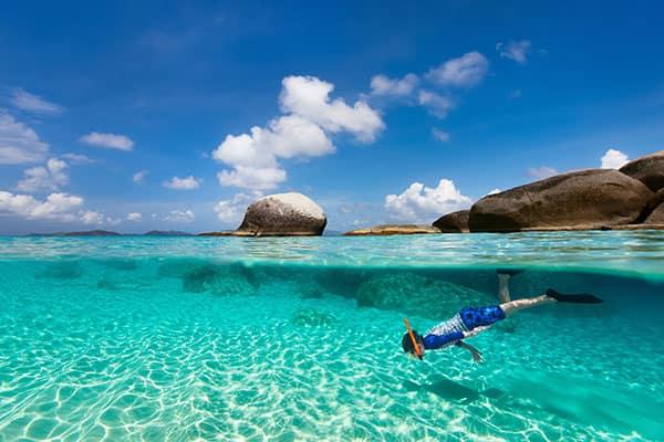 Snorkeling a Tortola