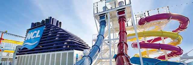 Stay active whilst cruising at Norwegian's Aqua Park