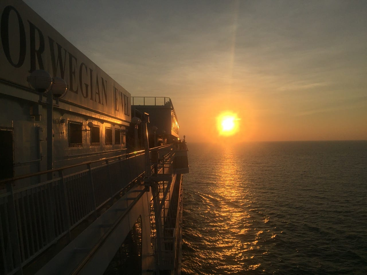 Sunset on Norwegian Jewel