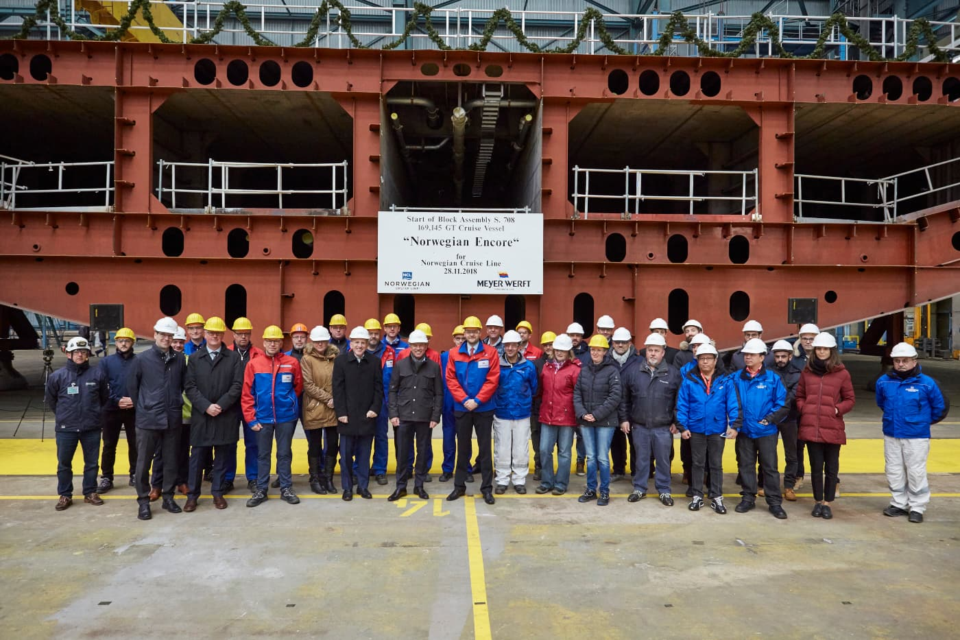 Norwegian Encore Keel Laying