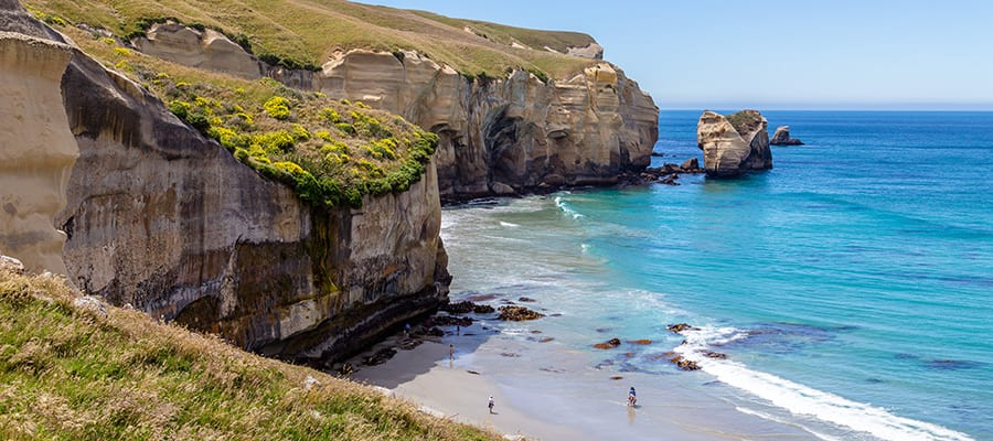 Tunnel Beach in una crociera a Dunedin