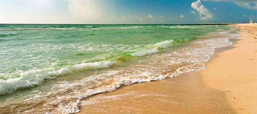 Appreciate beautiful beaches of Orlando before your Caribbean Cruise