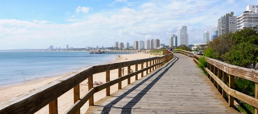 Beautiful beaches on a Punta Del Este cruise