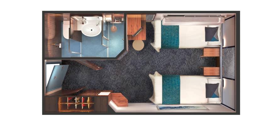 תכנית הקומה של חדר פנימי