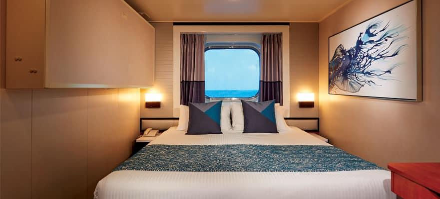 חדר עם חלון רחב לים במבצע הפליגו למרחקים