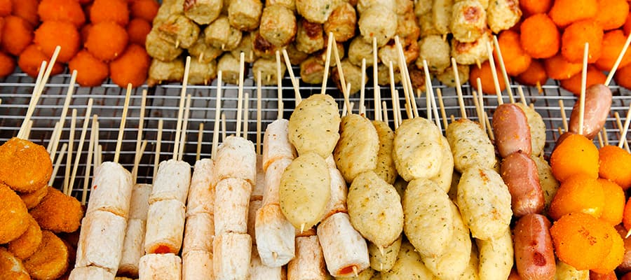 Delicious street food on Cruises to Penang