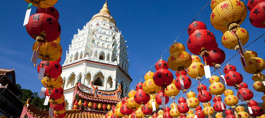 Chinese New Year lanterns on your Cruise to Penang