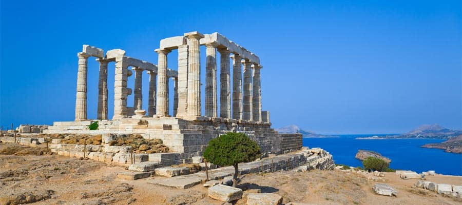 Cruise to Europe and visit Poseidon Temple at Cape Sounion