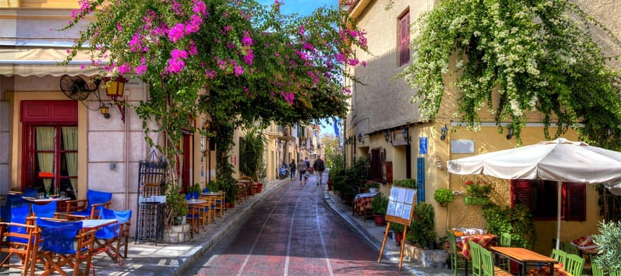 Visit Plaka when you cruise to Athens