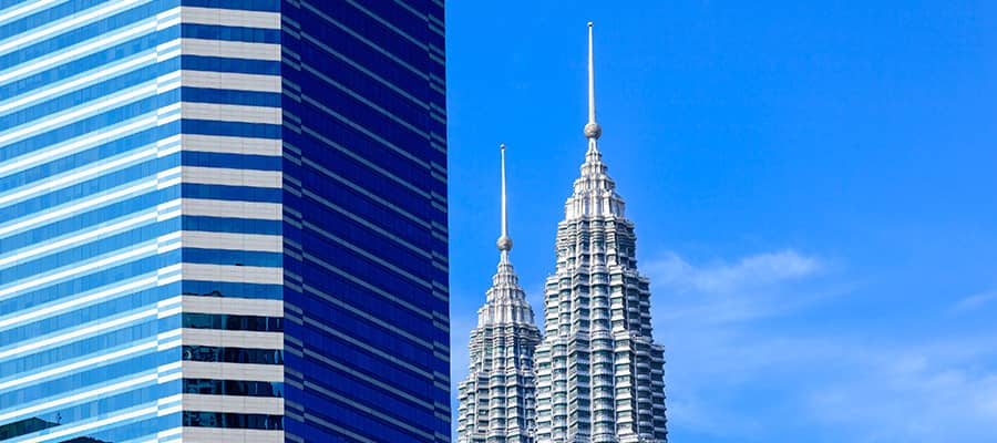 Petronas Towers in Port Klang