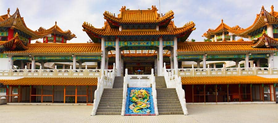 Thean Hou Temple on your cruise to Port Klang