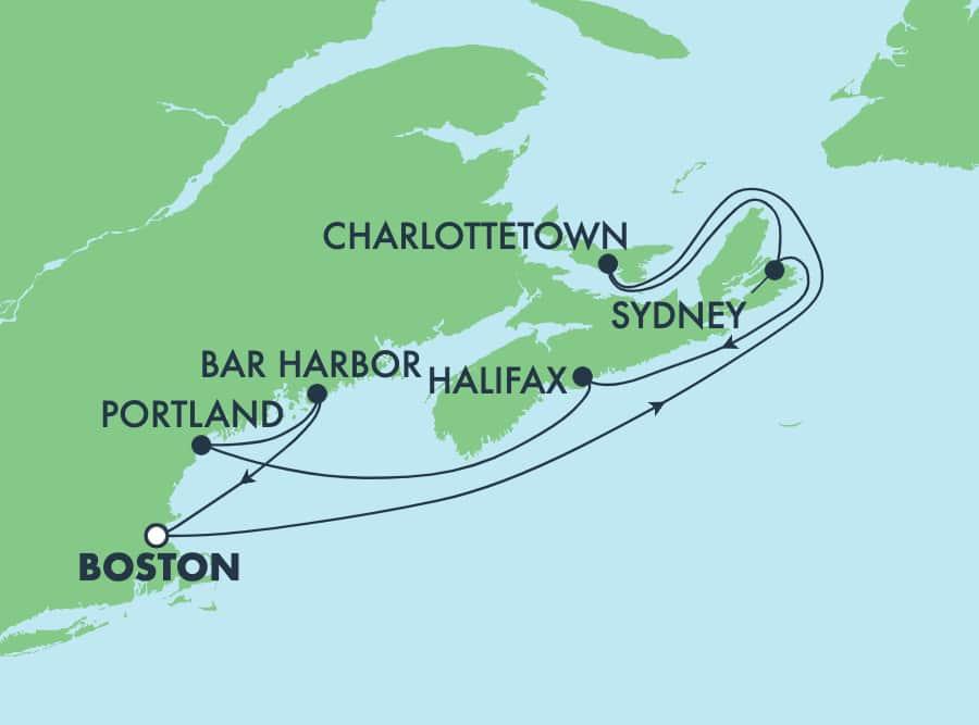 7-Day Canada & New England Round-trip Boston: Portland & Bar Harbour