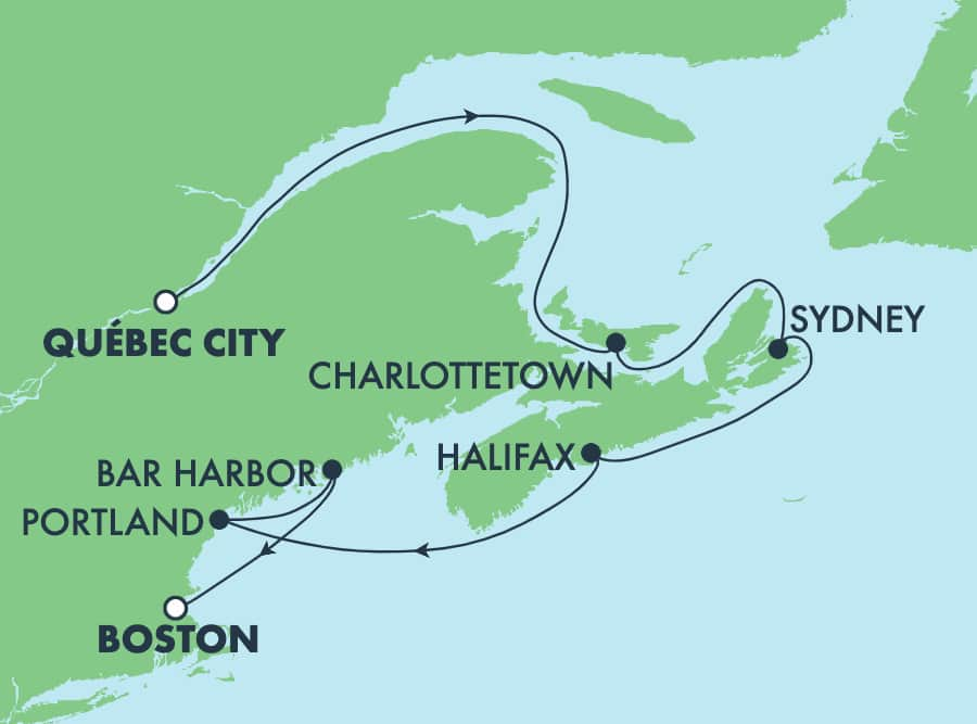 7-Day Canada & New England from Quebec City to Boston