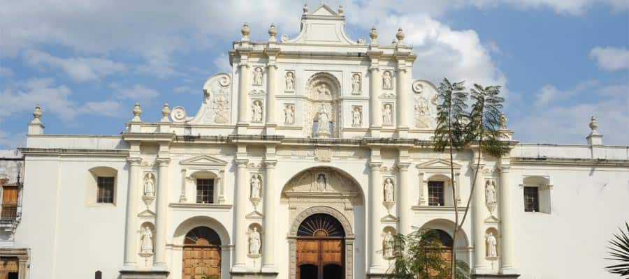 The cathedral of Antigua on your Panama Canal cruise