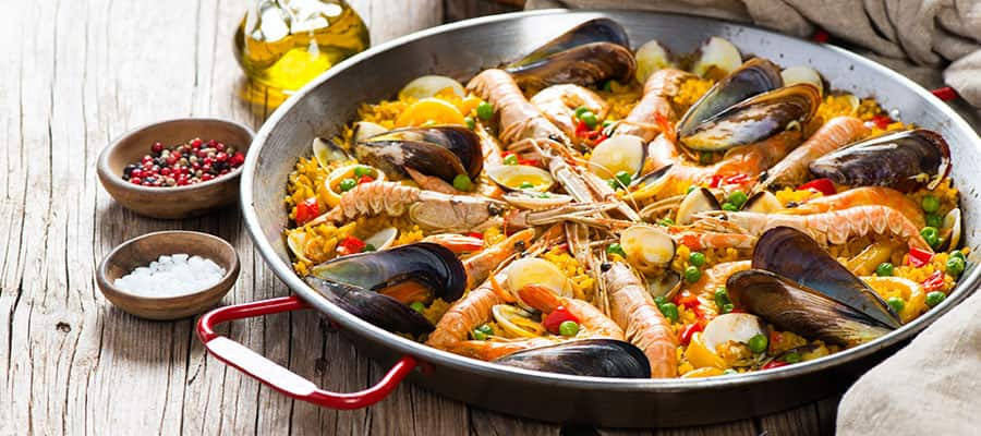 Try Paella when you cruise to Europe