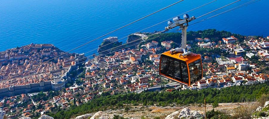 Seilbahnfahrten auf Dubrovnik-Kreuzfahrten