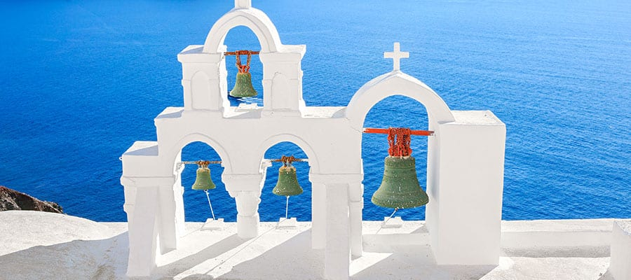 Church bells in Santorini