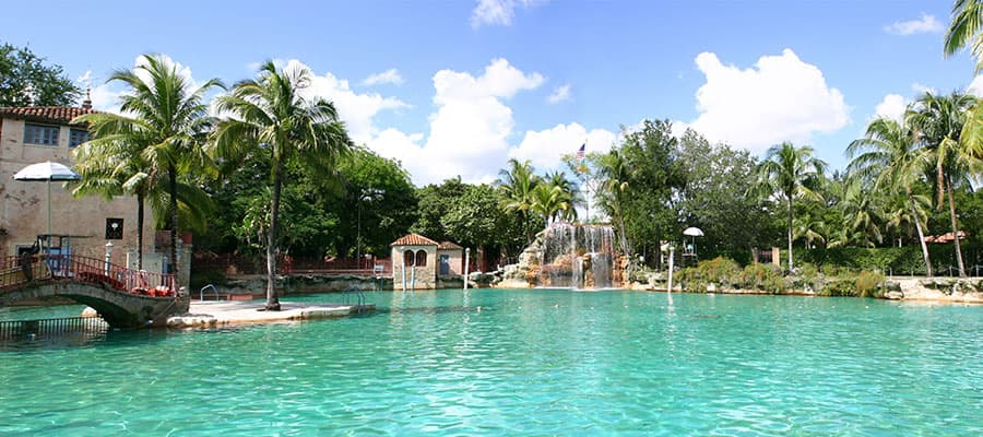 Cruise to Miami to visit the Venetian Pool