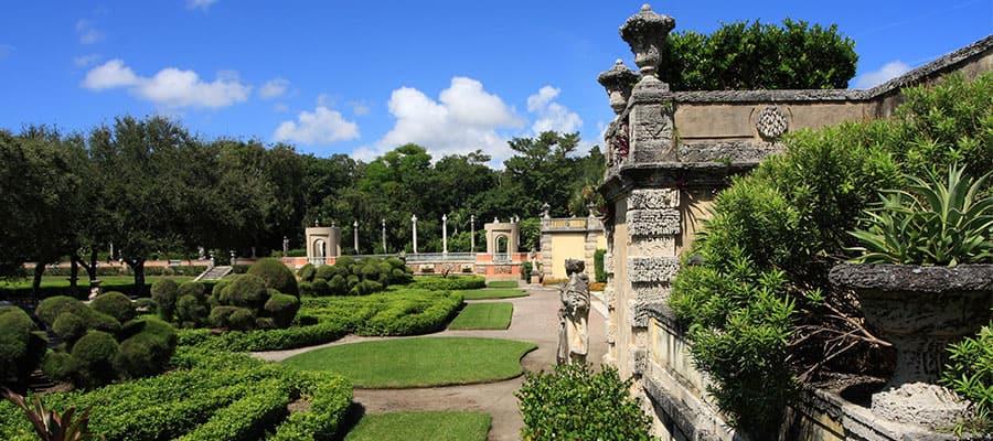 Die Gärten von Vizcaya in Miami
