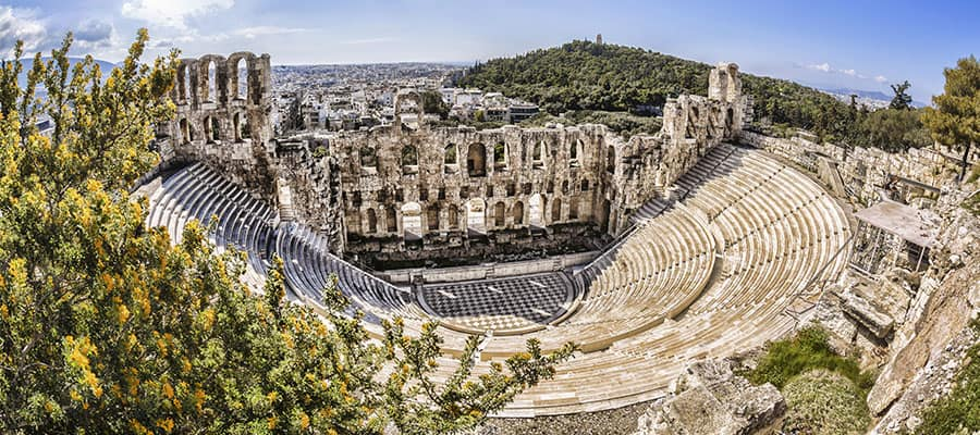 Famous Odeon theatre on your Athens cruise