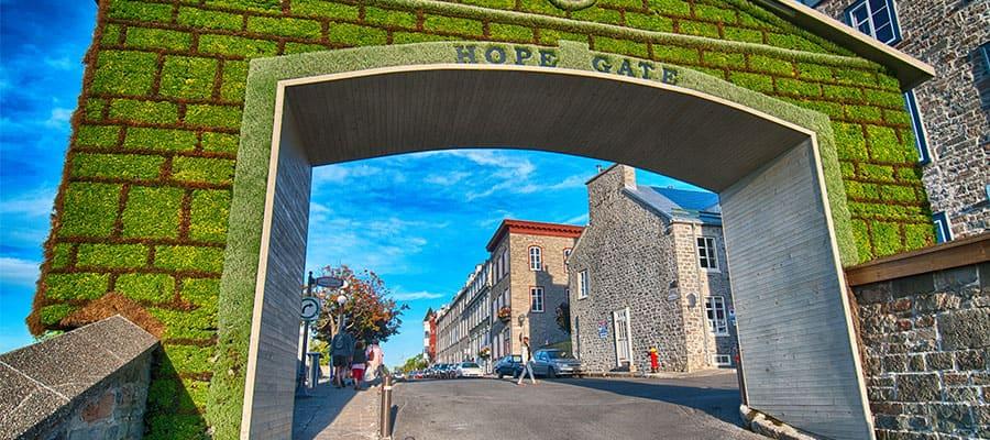 Hope gate oferece uma vista deslumbrante em seu cruzeiro no Canadá e Nova Inglaterra
