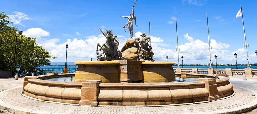 Fonte Paseo de la Princesa no seu cruzeiro para San Juan