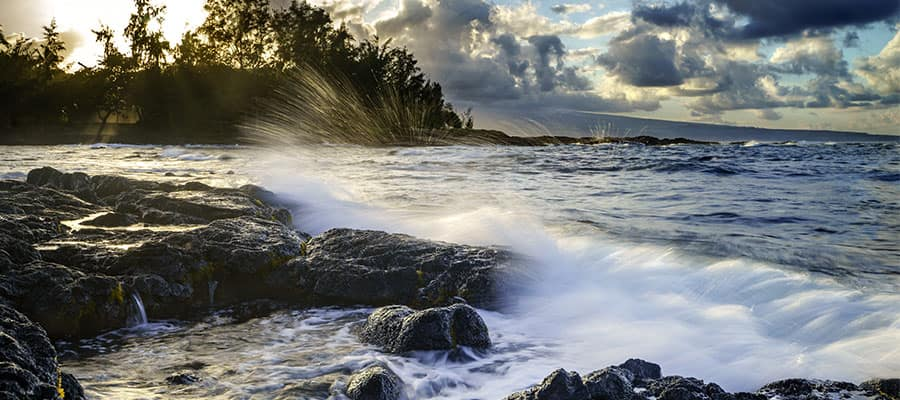 Fabulosa costa en un crucero a Hawái