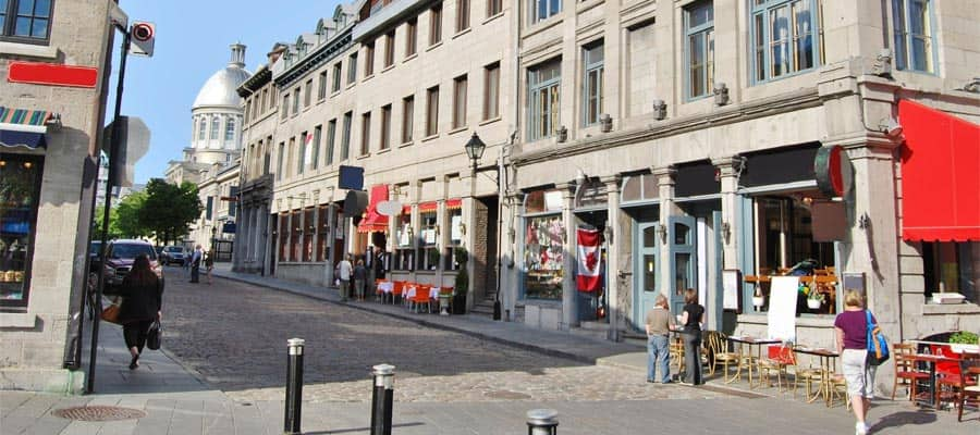 Downtown Old Montreal Streets on your Canada cruise