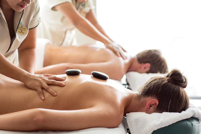 Enjoy a Couple's Massage on board at Mandara Spa