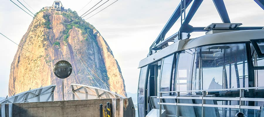 Take a cable car up to Sugarloaf on a Rio de Janeiro Cruises