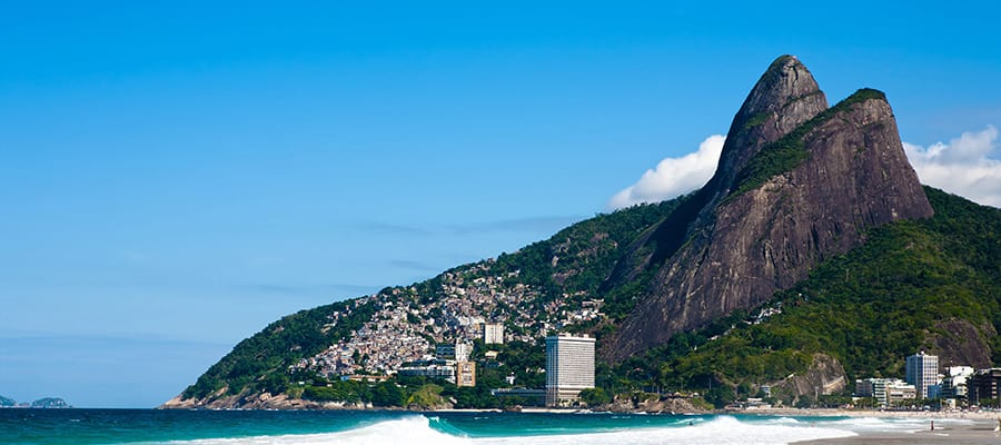Leblon Beach on cruises to Rio de Janeiro
