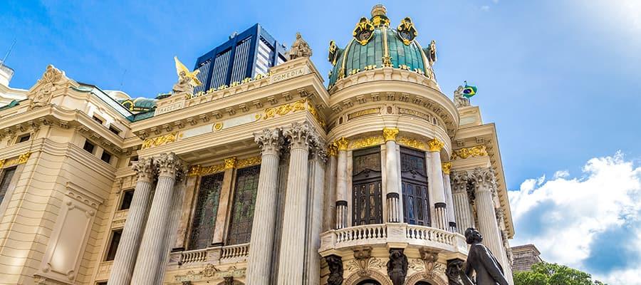 Teatro Municipale durante una crociera a Rio de Janeiro