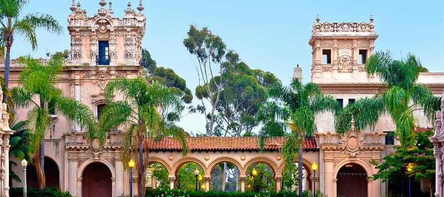 Casa de Balboa Building on your cruise from Los Angeles
