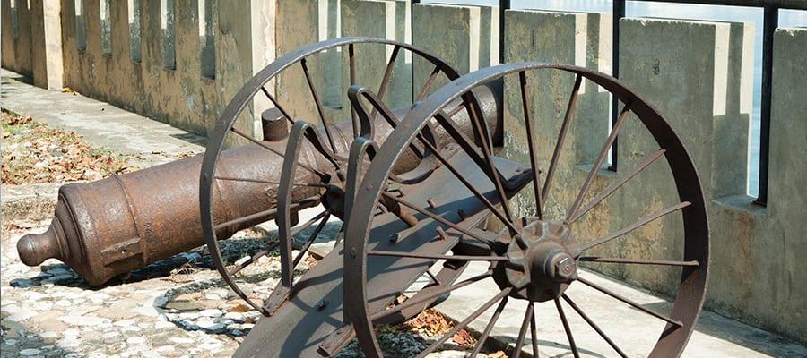 サントドミンゴクルーズで訪れるオザマ要塞の大砲