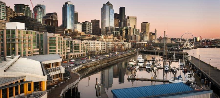 El muelle de Seattle durante tu crucero