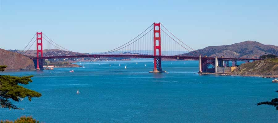 Golden Gate Bridge is a must see when cruising San Francisco