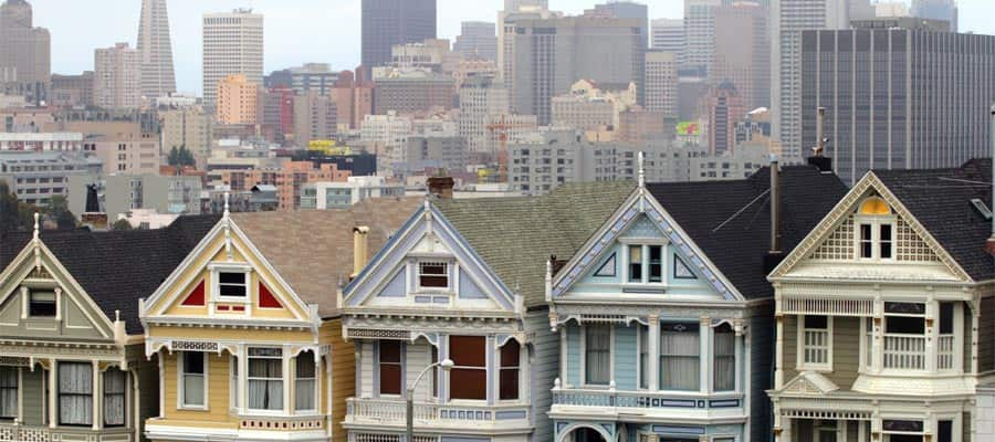 Painted ladies when you cruise to San Francisco