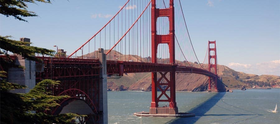 Make sure to see the Golden Gate Bridge in San Francisco